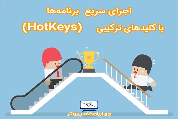 اجرای سریع برنامهها با کلیدهای ترکیبی (HotKeys)