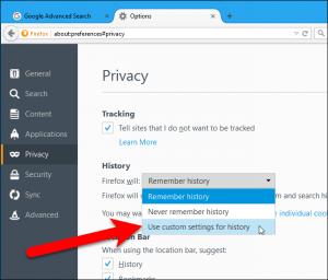 تنظیم مرورگر فایرفاکس 3