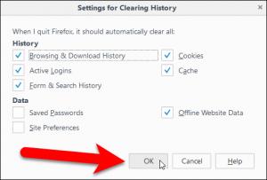 تنظیم مرورگر فایرفاکس 6