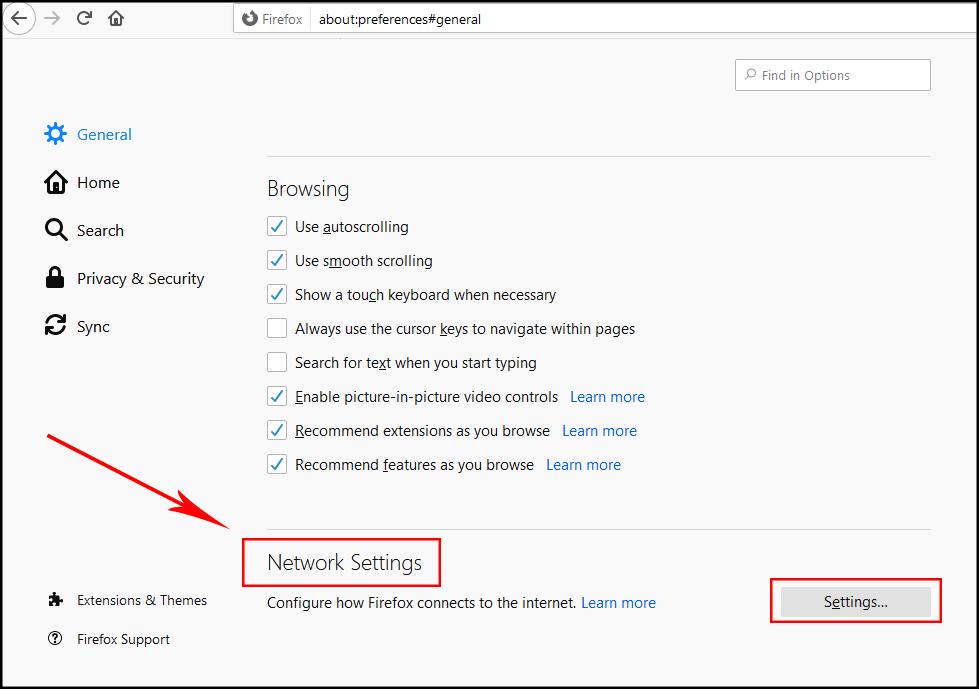 تنظیم پروکسی فایرفاکس2