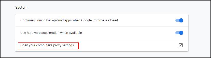 تنظیم پروکسی گوگل کروم 3