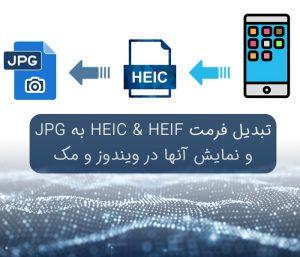 تبدیل فرمت HEIC & HEIF به JPG و نمایش آنها در ویندوز و مک